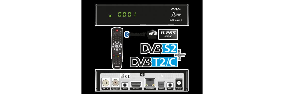 OS NINO+ DVB-S2+T2C H.265/HEVC Linux/Enigma2
