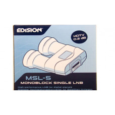 LNB monoblock single 6° 1. izhod MSL-5 - HD/3D pripravljen